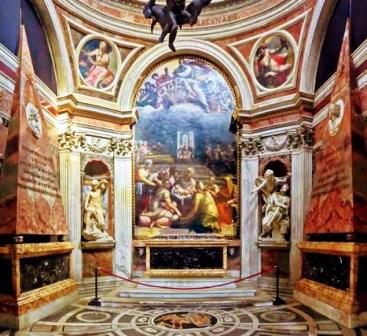 Capilla Chigi en la Basílica de Santa María del Popolo
