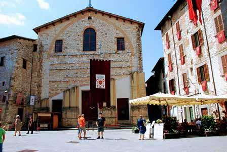 Acogedoras calles de Gubbio
