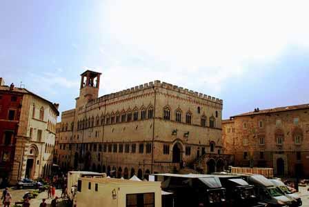 Espectacular Plaza IV de Noviembre en Perugia