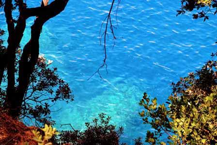 Impresionantes aguas turquesas en Cinque Terre