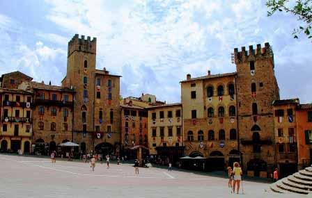 Piazza Grande de Arezzo, una de las plazas más bonitas del mundo