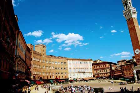 Piazza del Campo de Siena, una de las más bonitas del mundo