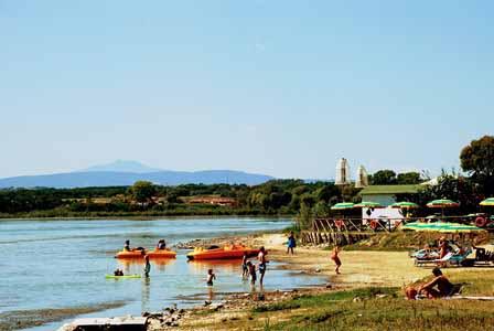 Playa de Castiglione del Lago en Umbría