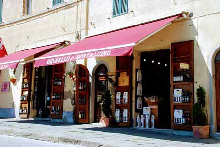 Vino Brunello en Montalcino, Toscana