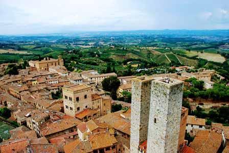 Vistas desde la Torre Grossa en San Gimignano