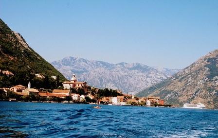 Bahía de Kotor en Montenegro