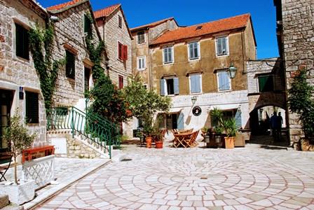 Casas de piedra en Stari Grad (Isla de Hvar, Croacia))