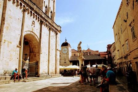 Catedral de Trogir y la Torre del Reloj (Croacia)
