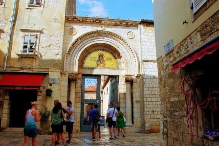 Mosaicos de entrada de la Basílica Eufrásica de Porec (Croacia)