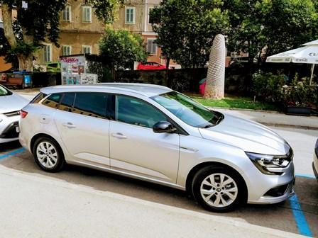 Nuestro coche de alquiler en Croacia