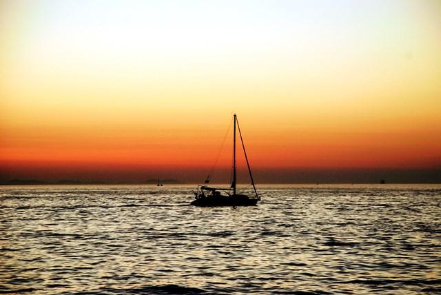 Puesta de sol espectacular en Zadar (Croacia)