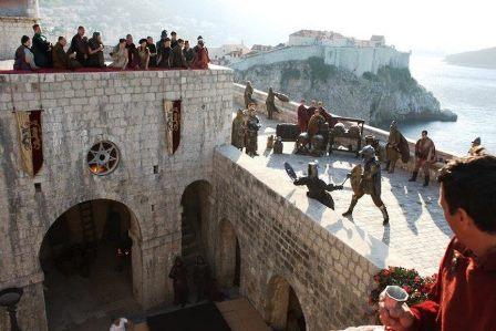 Escena del rodaje de Juego de Tronos en el fuerte Lovrijenac, HBO