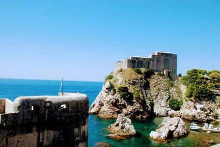 Fuerte de San Lorenzo o Lovrijenac, junto a las murallas de Dubrovnik