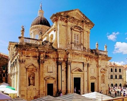 La catedral de Dubrovnik, que guarda las reliquias de San Blas