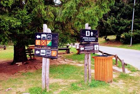 Rutas señalizadas en el Parque Nacional de los Lagos de Plitvice (Croacia)