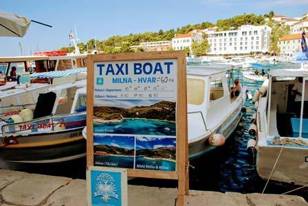 Taxiboats desde Hvar a las islas Pakleni