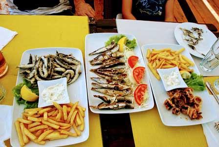 Banquete de pescaditos en Primosten (Croacia)