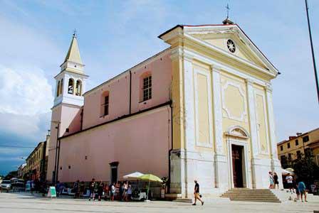 Iglesia de Nuestra Señora de los Ángeles en Porec (Croacia)