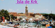 Iska de Krk e n la Bahía de Kvarner (Croacia)