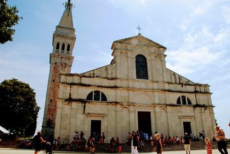 La Catedral de Santa Eufemia en Rovinj (Croacia)