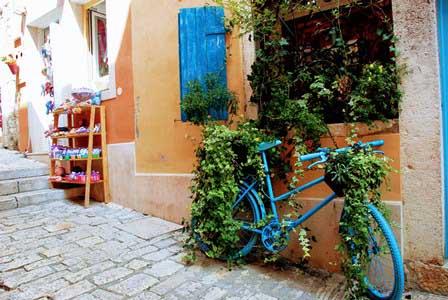 Rincones con mucho encanto en Rovinj en Istria (Croacia)