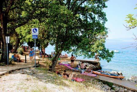 Sendero Setaliste Antona Koste, para llegar a las calas del paraíso en Njivice (isla de Krk)