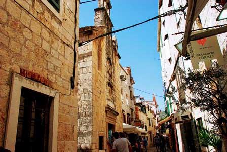 Callejuelas de Trogir (Croacia)