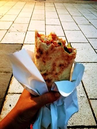 Deliciosa tortila que cenamos en el Paseo Marítimo de Split