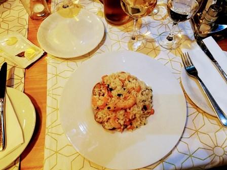 Delicioso risotto de marisco en Hvar (Croacia)