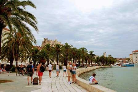 Paseo Marítimo o Riva en Split (Croacia)